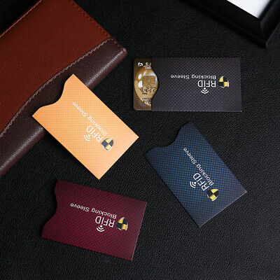 5PCS Anti Theft for RFID Credit Card Protector Blocking Sleeve Skin Case Newest