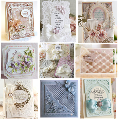 Lace Frame Background Metal Cutting Dies Stencil Scrapbook Album Paper Card DIY