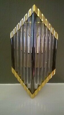 ⭐  ⭐  Vintage ART DECO WALL LIGHT with  GLASS RODS ships light ? ⭐ ⭐