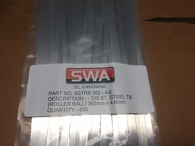 stainless steel cable ties swa Sstrb 362 4.6