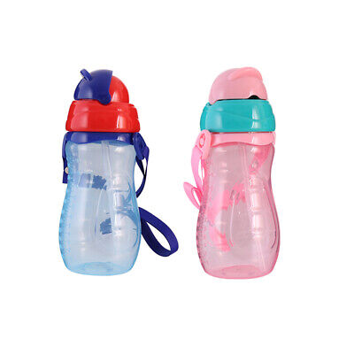 Toddler Baby Kids Silicone Feeding Drinking Water Straw Bottle Sippy Suction Cup