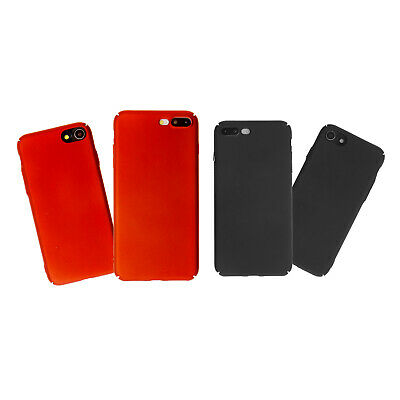 Ultra Thin Polish Hard Back Case Cover For Apple iPhone 7/8 & 7/8 Plus Black/Red