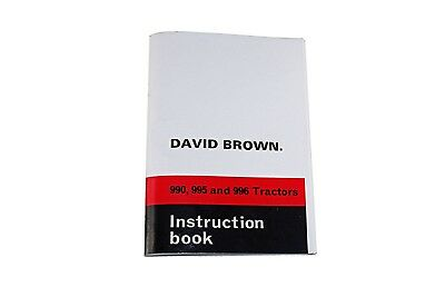 The David Brown 990, 995 & 996 Instruction Book 1972 (TP683)