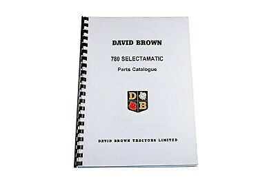 David Brown List of Parts 780 Selectamatic Tractor 1969 (TP 647)