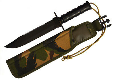 Messer Rambo Knife Hunting Survival Military Combat Fixed Blade DPM British Army