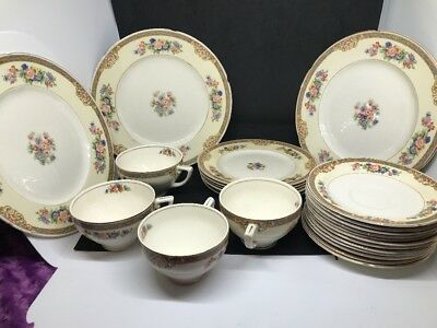 China Set WH Grindley Ivory china Majorie made in 1924 England