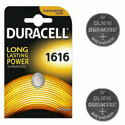 10 X Duracell 1616 3V Lithium Coin Cell Batteries CR1616/DL1616 Battery - New