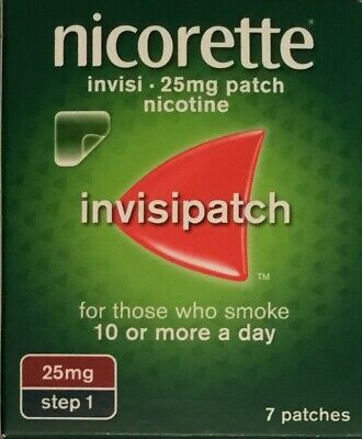 Nicorette Invisi 25mg patch - 7 patches Step 1 (Genuine)