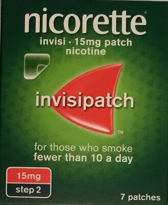 Nicorette Invisi 15mg Patch - 7 patches Step 2 (Genuine)
