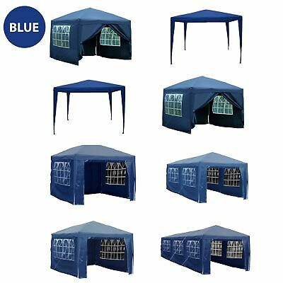 Gazebo Marquee Party Tent Waterproof Garden Patio Pop Up Outdoor Canopy Blue