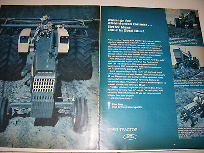 Vintage Ford Tractor Advertising -8000  5000  4000 & 120 L & G  Tractors