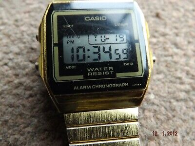 CASIO Retro Classic Unisex Digital Steel Bracelet Watch- A156W gold plated