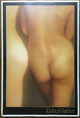 Original 1982 ROBERT FARBER Poster Photo Lithograph Female NUDE Backside NAKED
