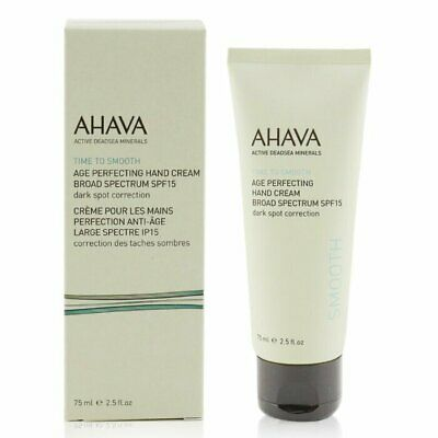 Ahava Time To Smooth Age Perfecting Hand Cream Broad Spectrum SPF15 75ml Hand
