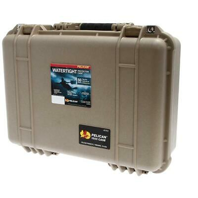 Pelican 1500 Waterproof Case with Yellow/Black Divider Set - Desert Tan #1091302