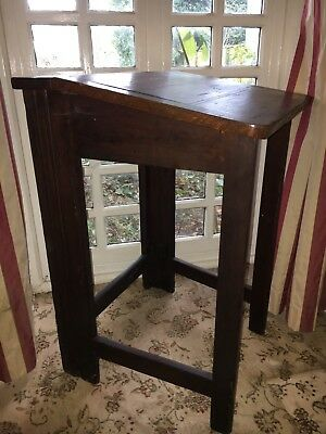 Vintage Victorian Edwardian Rare School Childs Writing Desk Folding