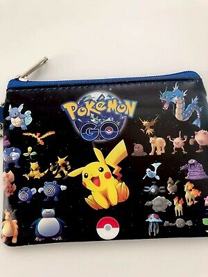 Boy Children Kids Pikachu Pokemon Zip Coin Card small Wallet case Purse mini Bag