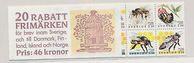 LJ74587 Sweden bees bugs flora insects fine booklet MNH