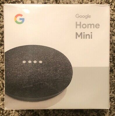 NEW Google HOME MINI Smart Speaker with Google Assistant AI Charcoal SEALED