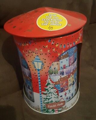 Christmas musical wind up tin - jingle bells - north pole - free shipping