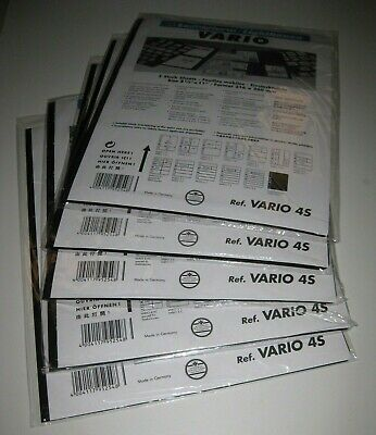25 NEW Stock Pages Lighthouse Vario 4-S  (5 packs) - Black, Double-Sided