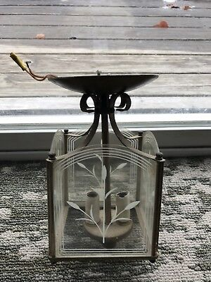 Vintage Union Made Underwritters Labatories Ceiling Light Fixture
