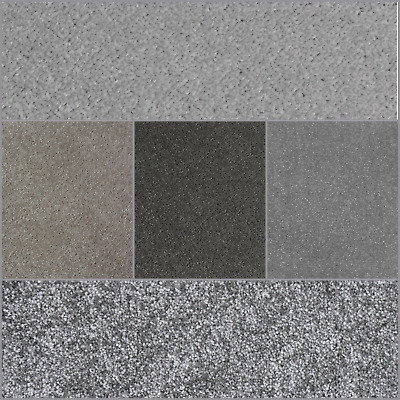 HARDWEARING CARPETS - Grey Twist, Berber, Felt Back 4m Wide Price From £3.99m²