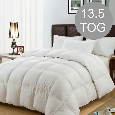 Just Like Down Duvet / Quilt Bedding - Single Size 13.5 TOG Thick Quality Uk Fit
