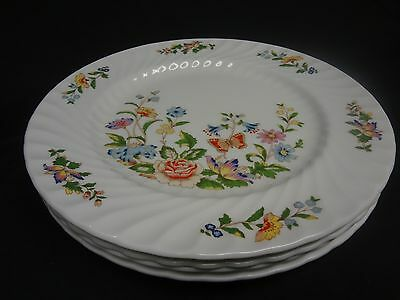Aynsley English China - Cottage Garden - Set of 4 Dinner Plates