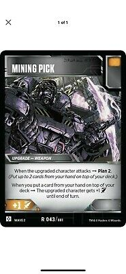 Transformers TCG Card 3X Mining Pick Battle Rare - Rise of the Combiners