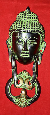 Lord Buddha Face Shape Door Knocker Vintage Style Brass Lucy Door Knocker Bell
