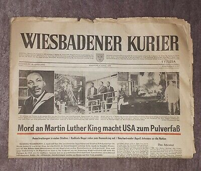 Mord an Martin Luther King, Zeitung Wiesbadener Kurier vom 6. April 1968