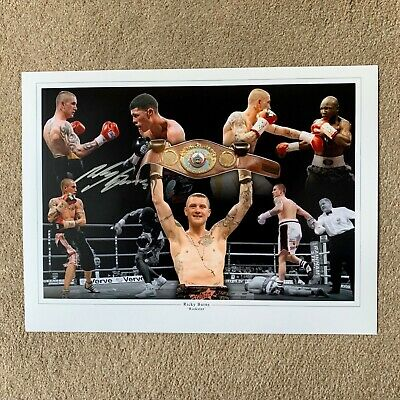 SALE RICKY BURNS BOXING HAND SIGNED PHOTO AUTHENTIC + COA - 16x12