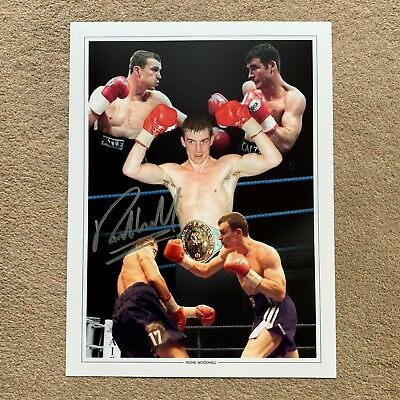 SALE RICHIE WOODHALL BOXING HAND SIGNED PHOTO AUTHENTIC + COA - 16x12