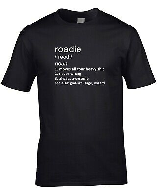 Roadie Funny Definition Mens T-Shirt Gift Idea Job Work Tour Gig Band Music Cool