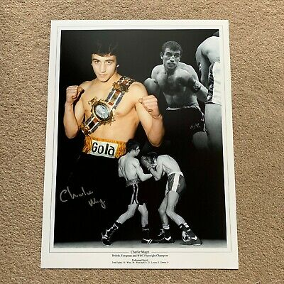 SALE CHARLIE MAGRI BOXING HAND SIGNED PHOTO AUTHENTIC + COA - 16x12