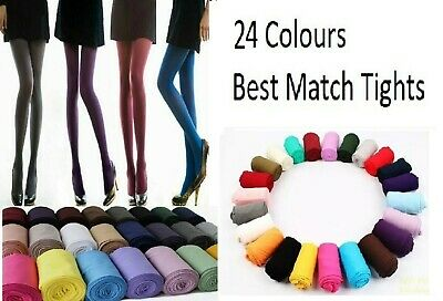 Opaque Tights 24 Colours 40 Denier Opaque Best Match Ladies Tights S/M/L
