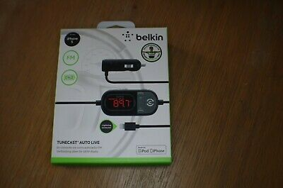 Belkin In Car Tunecast Auto Live FM Transmitter Charge and Play for iPhone 5/6/7