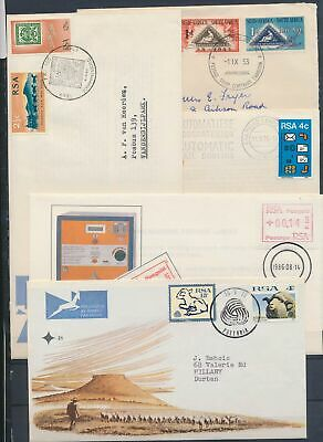 XB50698 South Africa Suid Africa stamp on stamp FDC's used