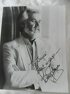 Kenny Rogers Vintage 80s Hand Signed Autographed 8x10 Publicity Photo To Joyce