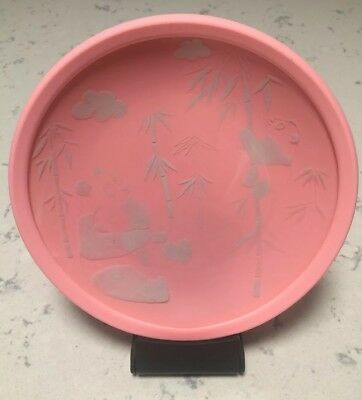 Brinware Kids Pink Tempered Glass Plate With Silicone Insert Pandas 8""