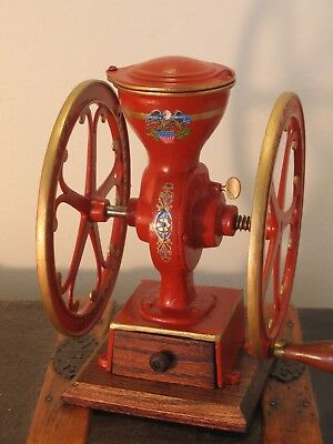 Antique LITTLE NATIONAL No.50 Cast Iron Coffee Grinder Mill