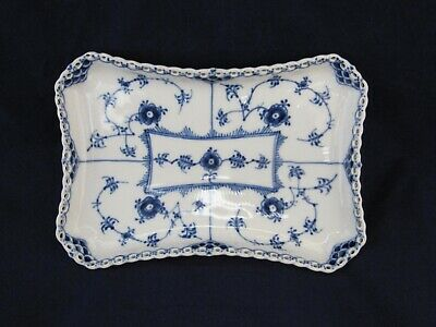 Royal Copenhagen Blue Fluted Full Lace Tray for Cream and Sugar Denmark 1195