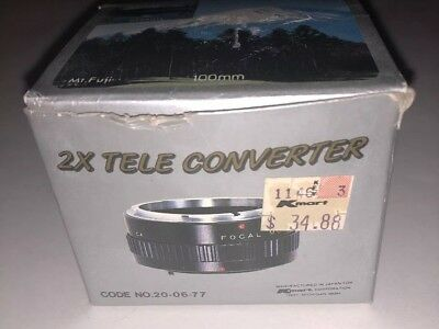 2X Tele Converter For Canon A Type Mount Double Focal Length
