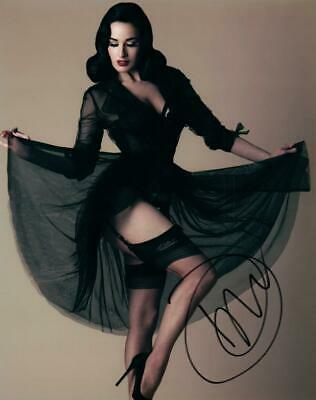 Dita Von Teese 8x10 Signed Photo autographed Picture COA