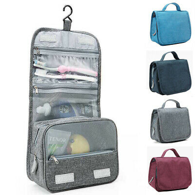 US Travel Cosmetic Bag Toiletry Makeup Organizer Storage Hanging Pouch Holder