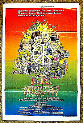 "MORE music & memories from the 60's - ""MORE AMERICAN GRAFFITI"" 1979 poster 27x41"