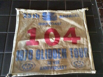 25th Annual Gulf Coast 1970 Glidden Tour Cloth Banner Antique Auto