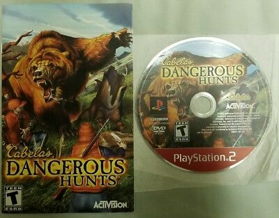 Cabela's Dangerous Hunts PlayStation 2 3 Disc & Manual ONLY! GH $1.00