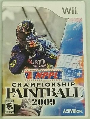 NPPL Championship Paintball 2009 Nintendo Wii Acceptable Condition! $3.00